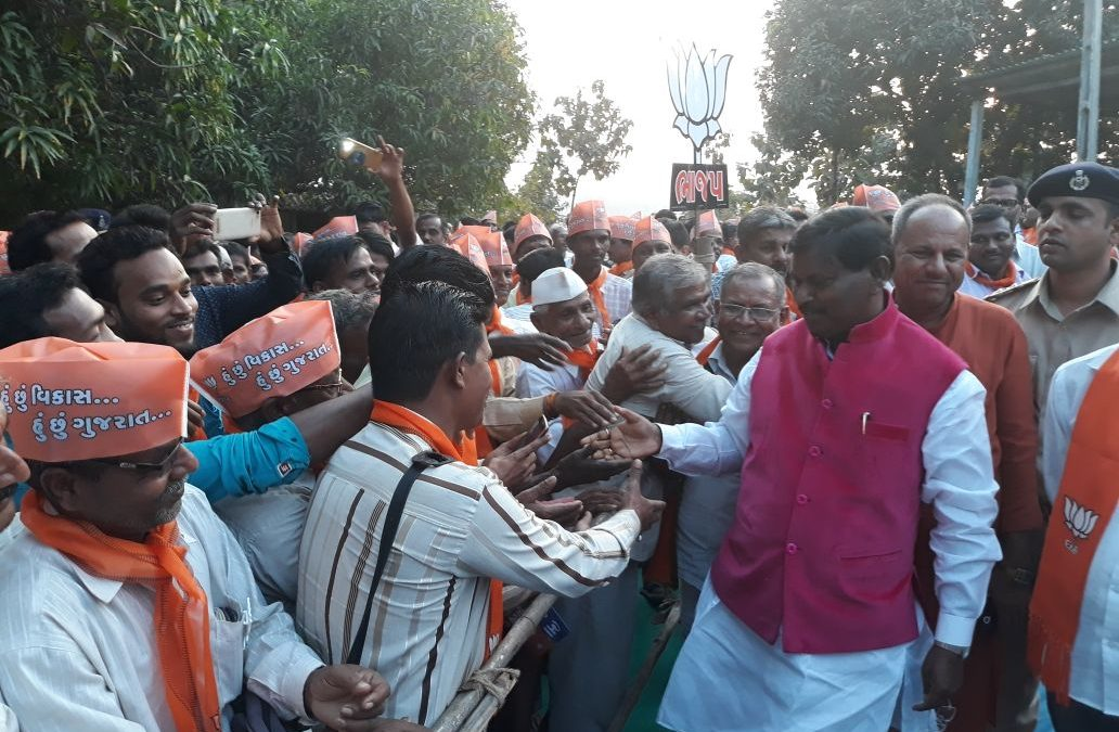 Campaigning in Gujarat